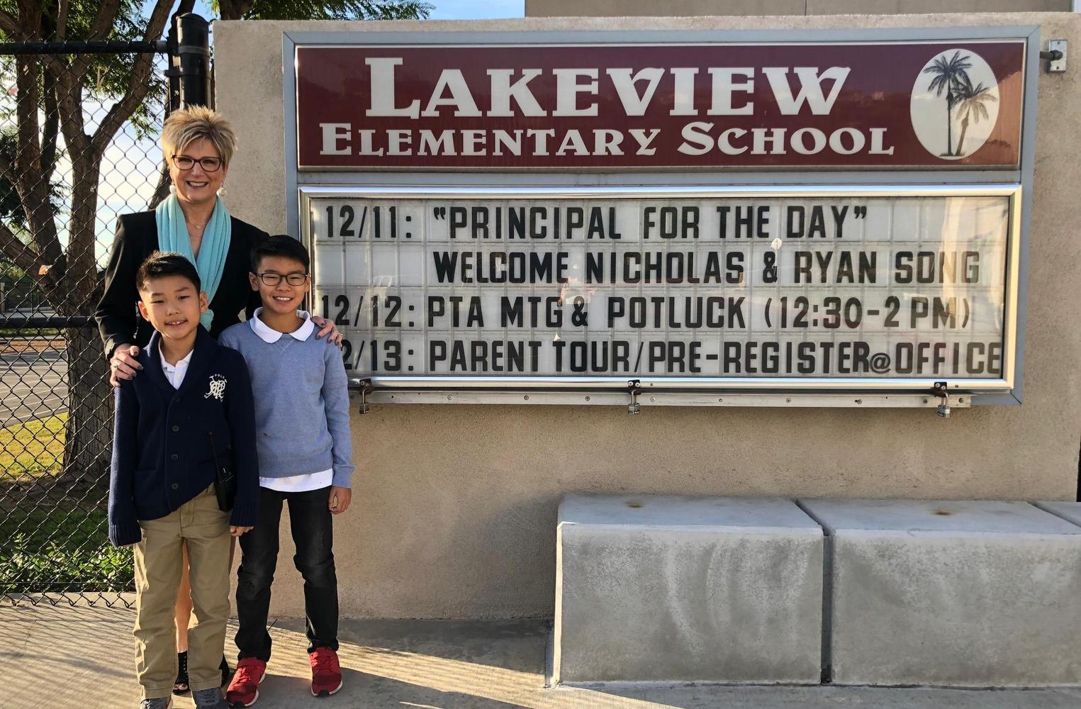 Brothers who were Principals for the Day
