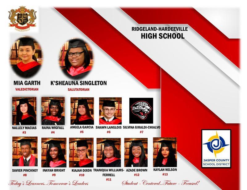 Ridgeland Hardeeville High School Honor Graduates Featured Photo