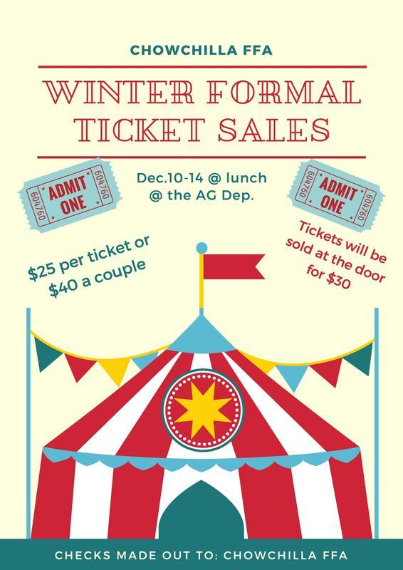Winter Formal Ticket Sales Poster