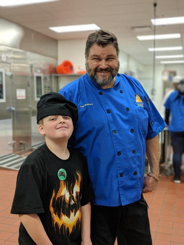 chef and an Elmwood student posing
