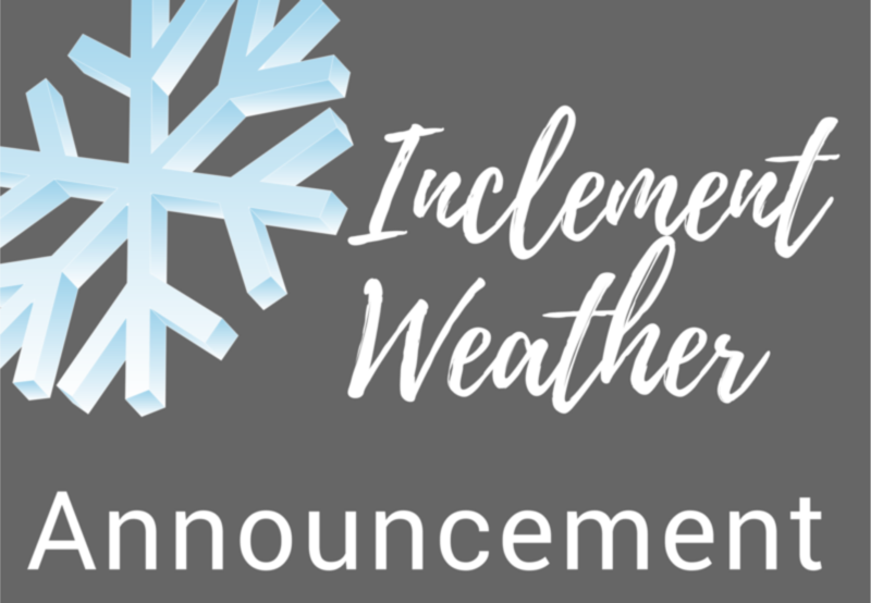 Inclement Weather Announcement Image