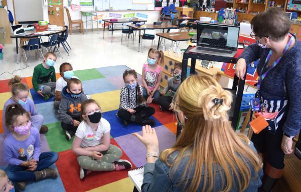 Kindergarten Class Zooming Classmate