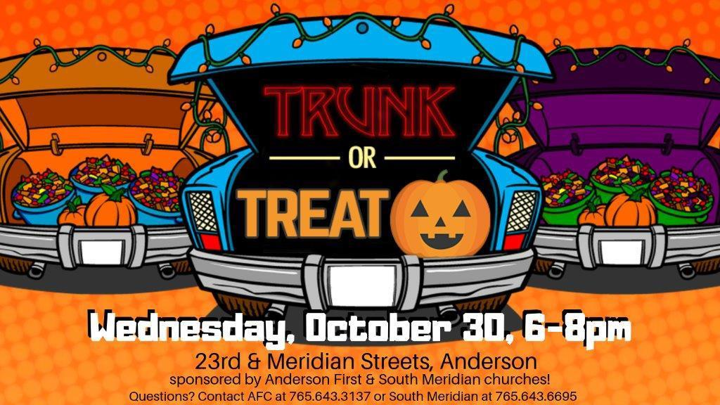 flyer for Trunk or Treat on October 30