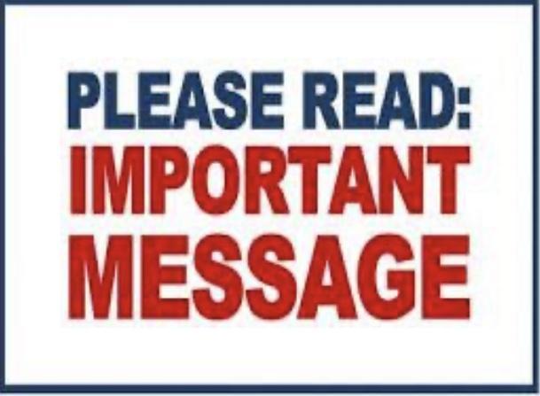 please read: important message image