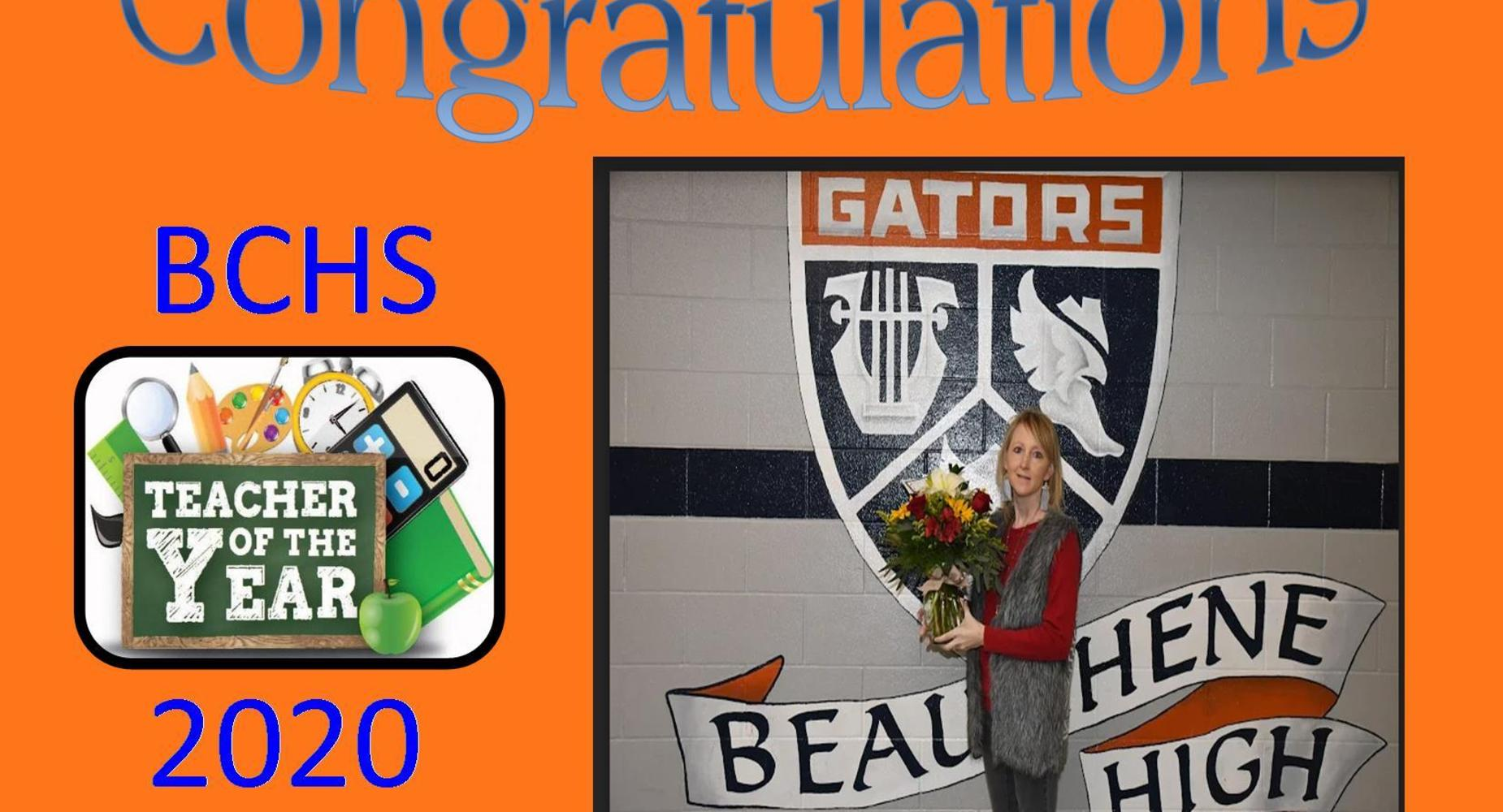 Teacher of the Year 2020 - Mrs. Jennifer Hebert