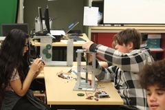 Students create a scale model of an elevator in Robotics Class