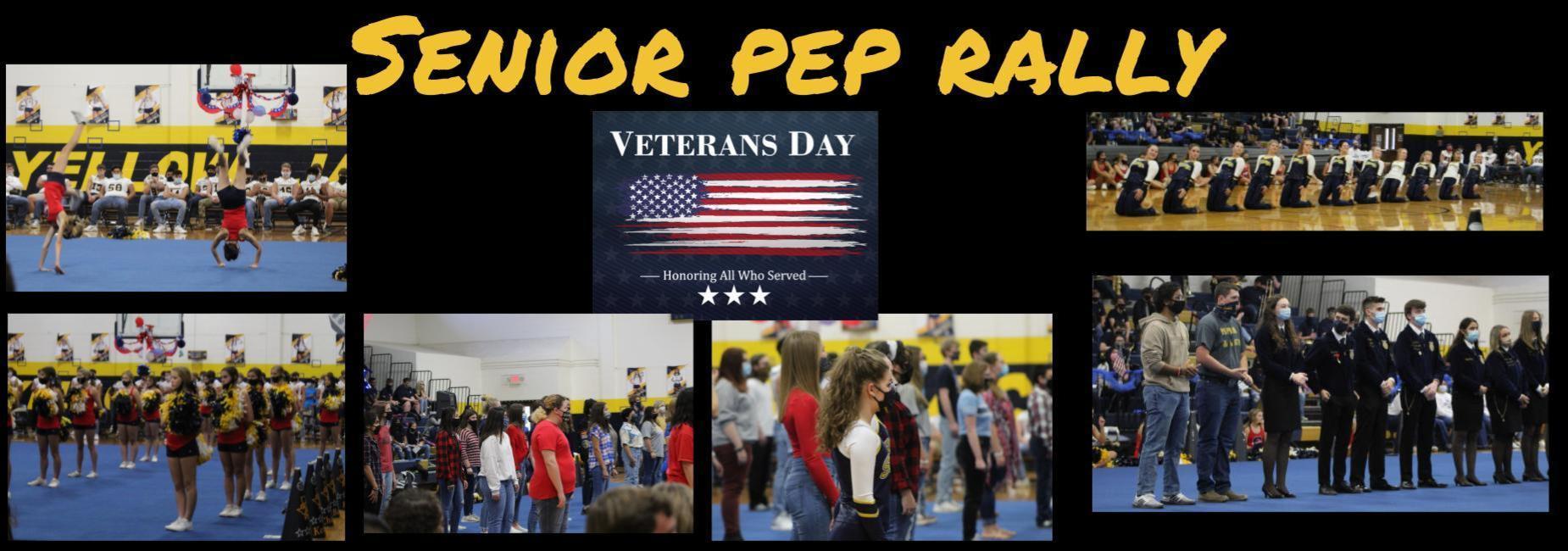 Veterans pep rally
