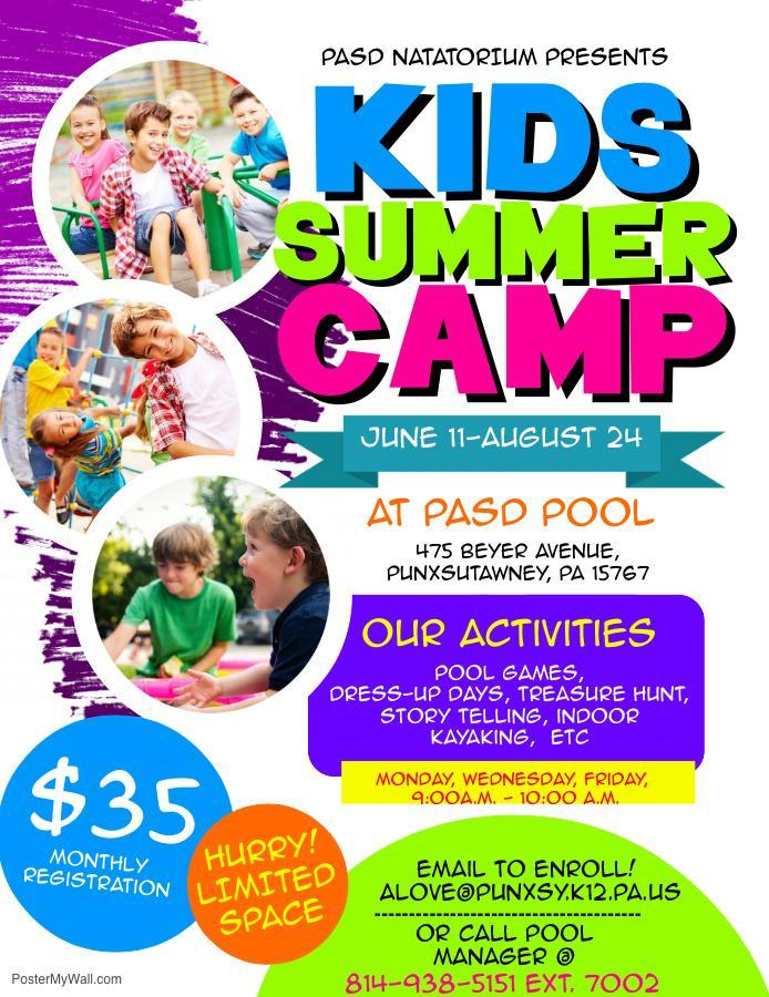 swim camp flyer