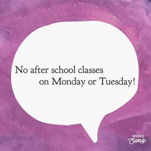 No after school November 19th & 20th