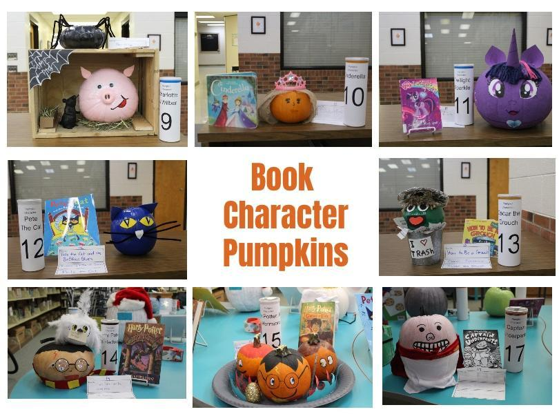 Image of book character pumpkins