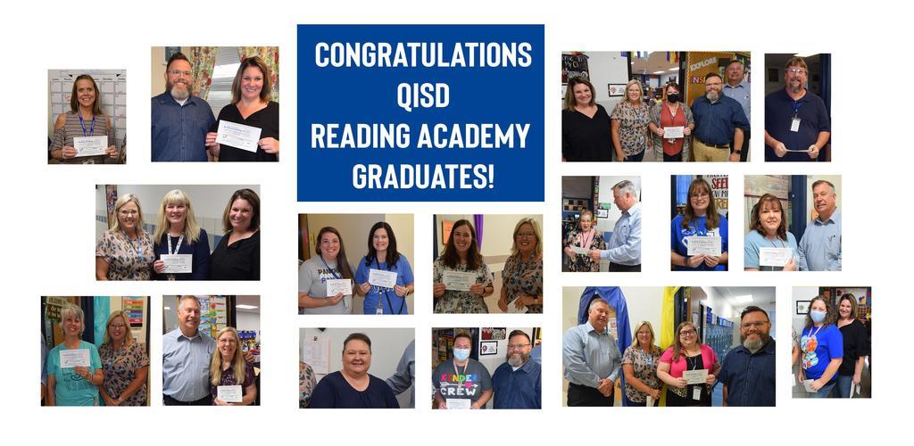 Congratulations Reading Academy Graduates!