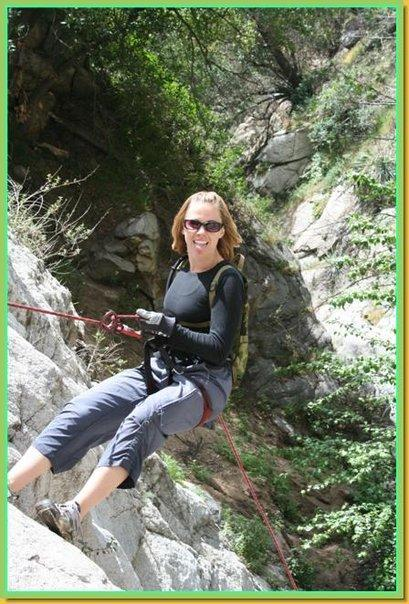 Repelling Little Santa Anita Canyon