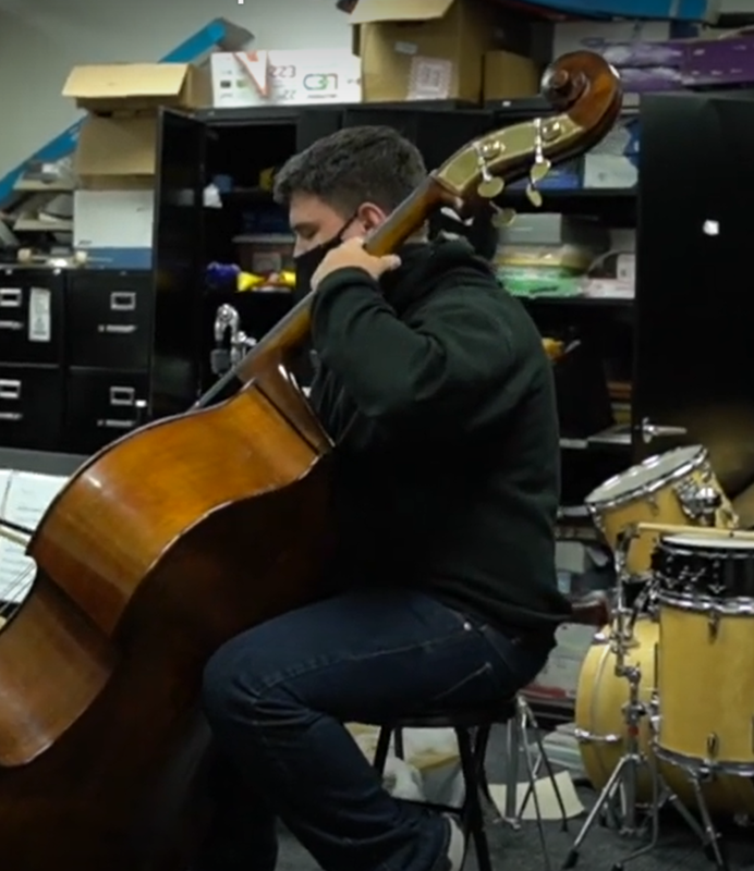 enhs student playing cello