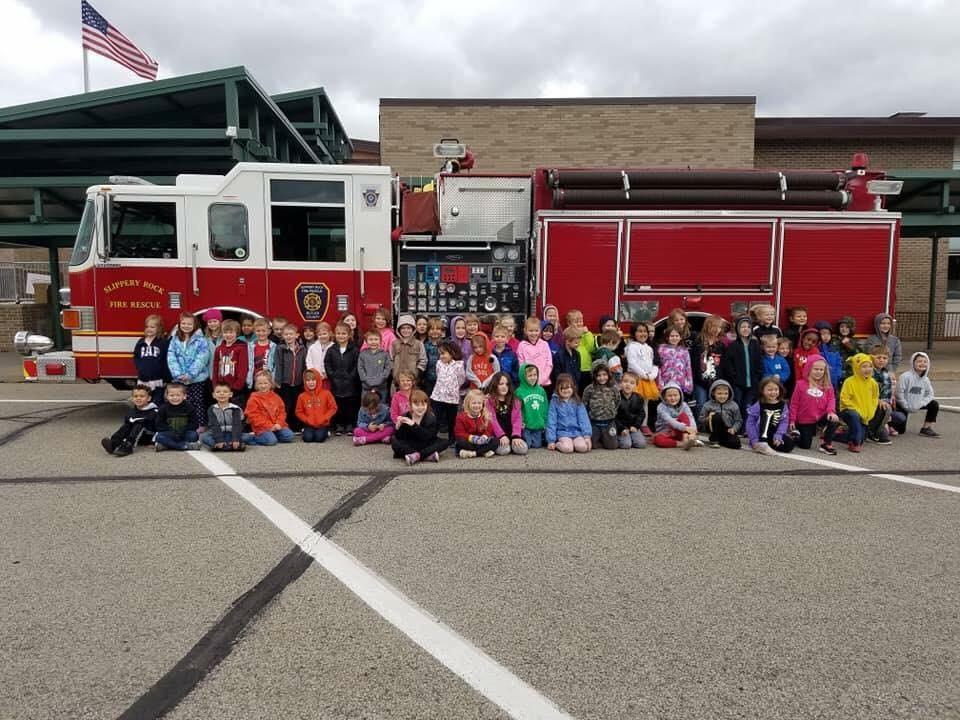 Slippery Rock Fire Department Visits Kindergarten