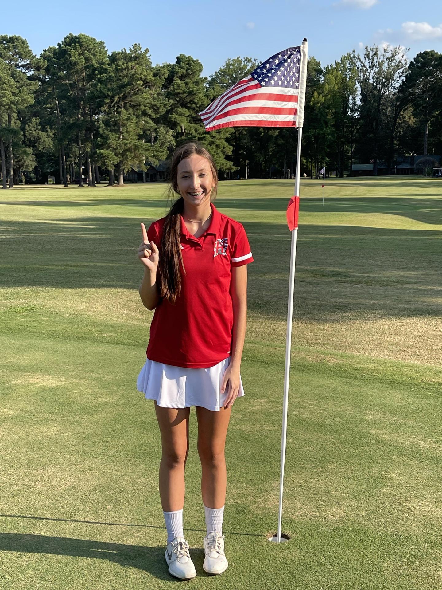 A golf girl