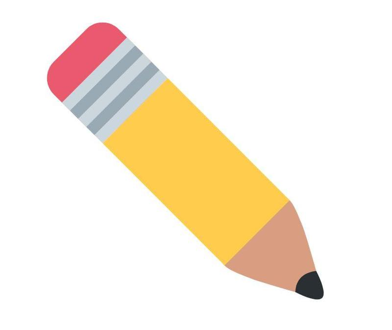 Yellow pencil with pink eraser