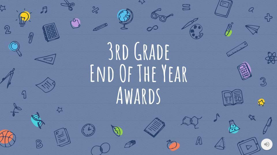 Picture of 3rd Grade EOY Awards Title Page