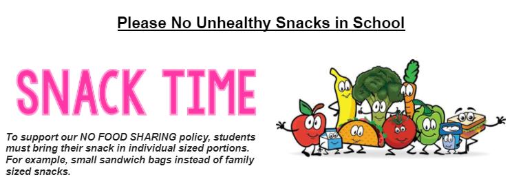 Please No Unhealthy Snacks in School