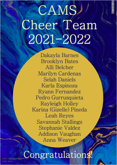 Congrats to our 2021-2022 Cheer Team! Featured Photo