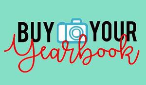 wording - BUY YOUR YEARBOOK on a green background