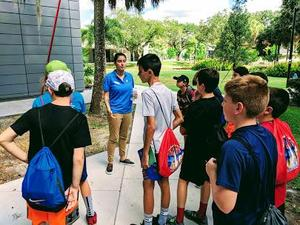 Edison 7th graders visit the Ringling College of Art and Design to learn about computer graphics and animation programs, as part of a STEM field trip to Florida.