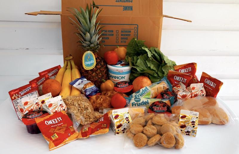 Food inside meal box