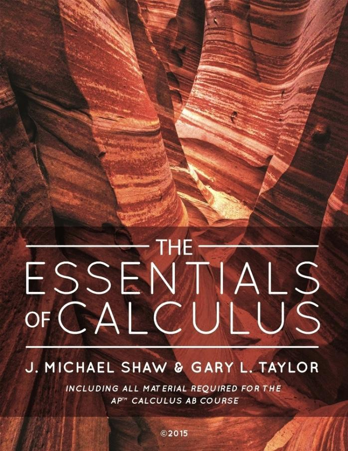 Cover fo the Essentials of Calculus textbook.