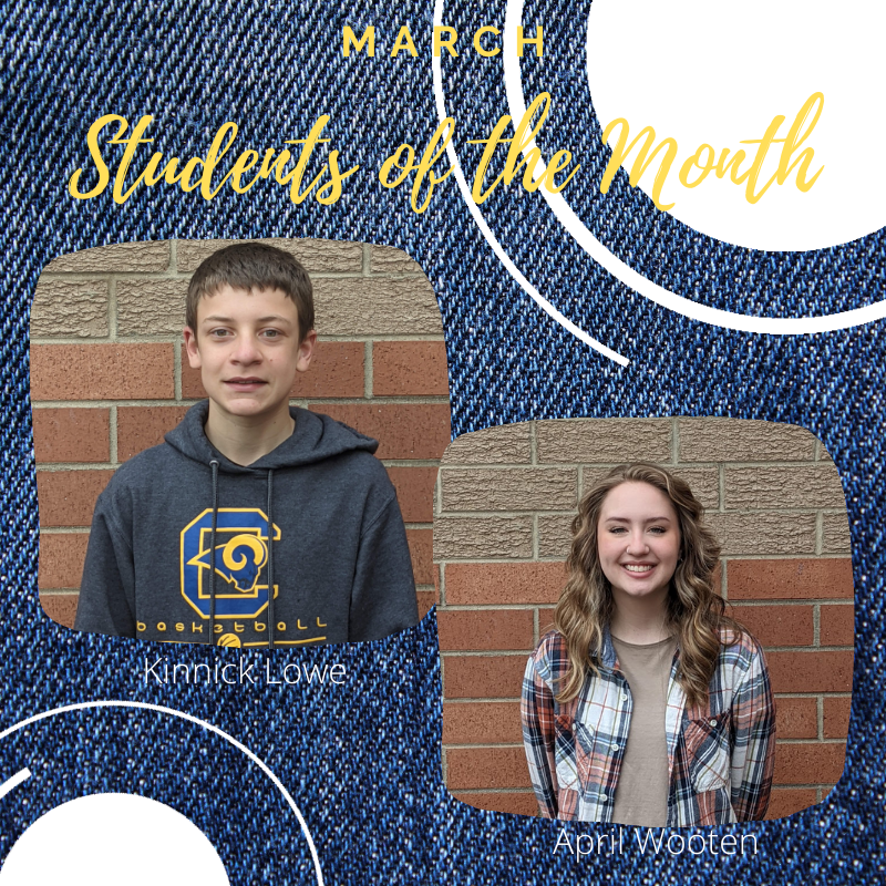 Congratulations to our March Students of the Month! Featured Photo