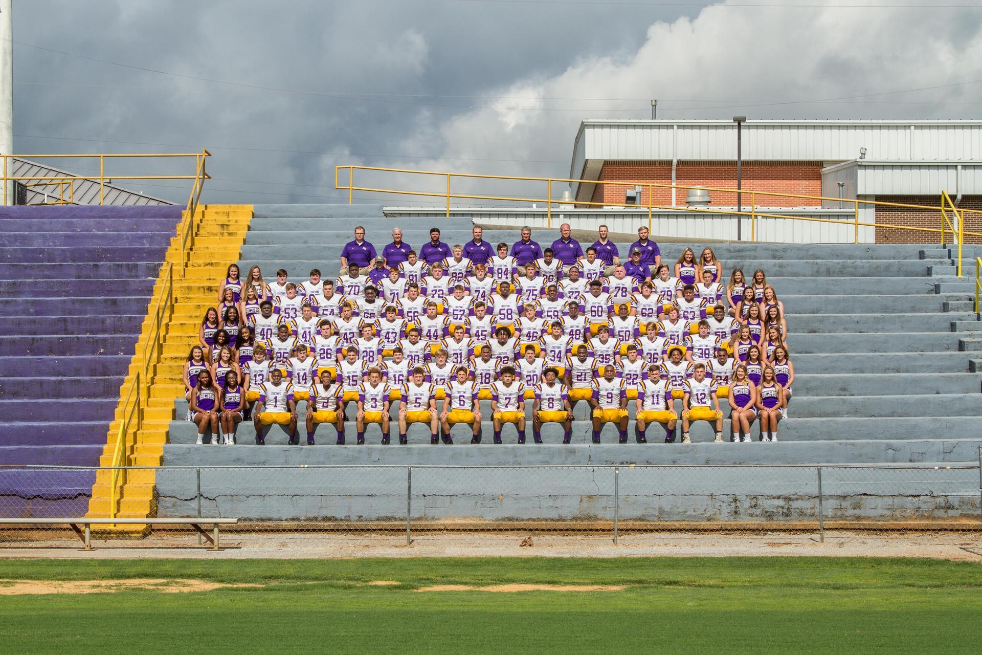 BCHS 2018 Football Team & Cheerleaders