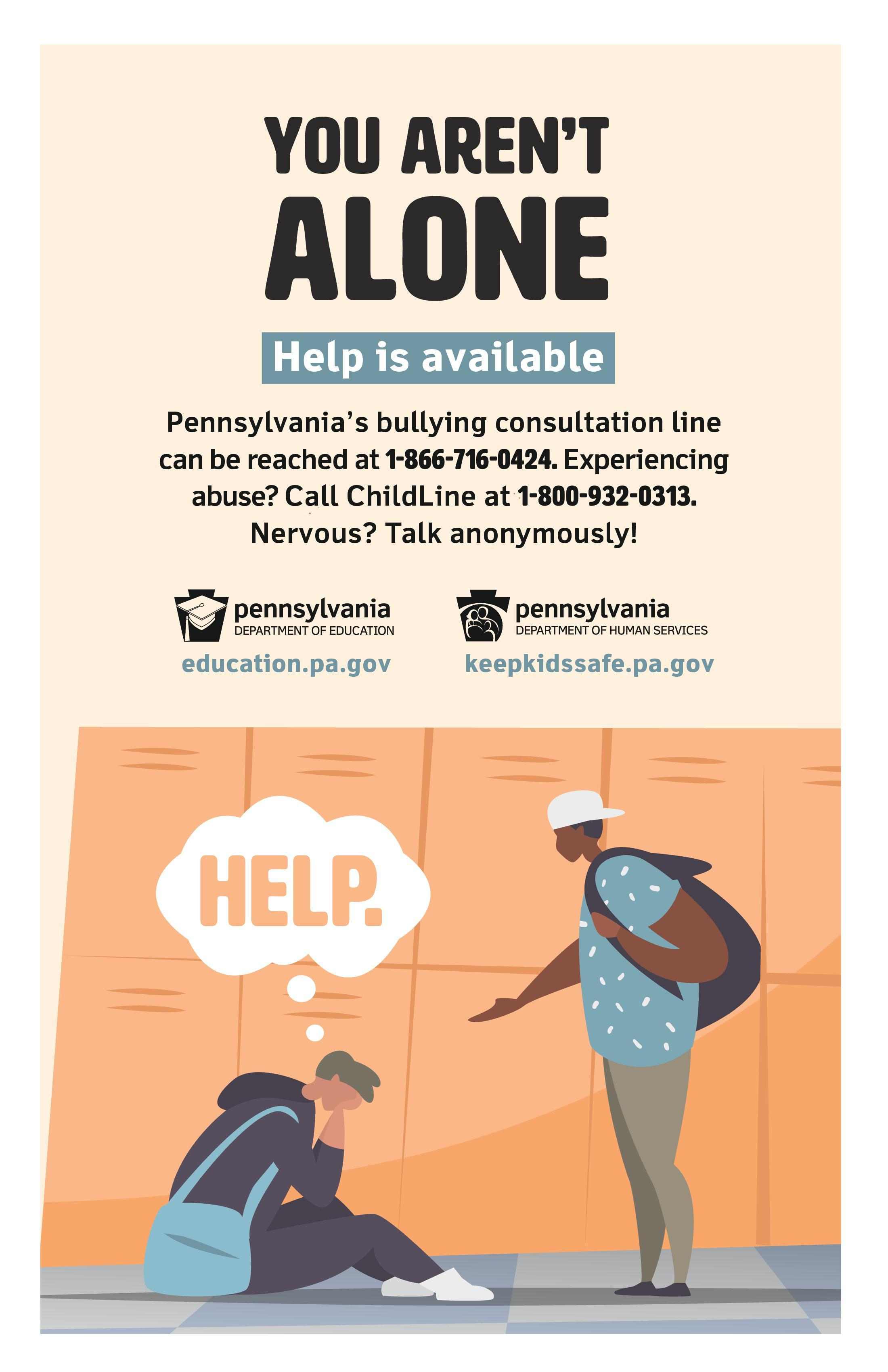 Bullying contact info poster