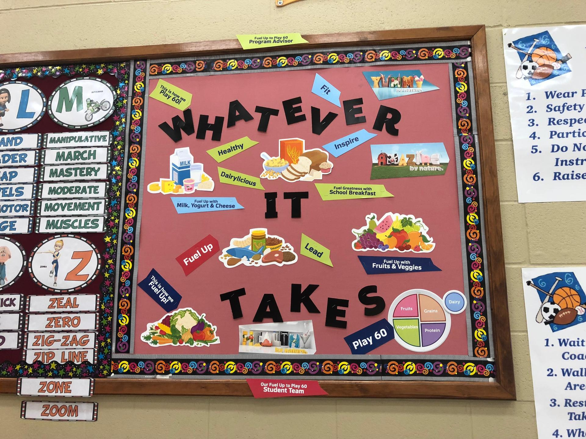 Whatever it takes bulletin board