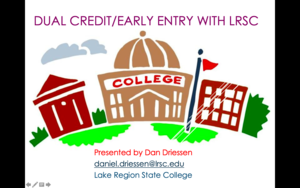 Dan Driesen from Lake Region State College