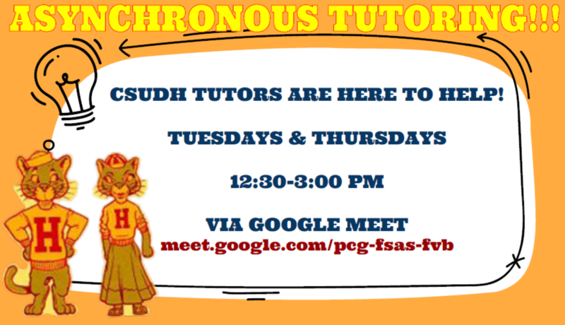 Asynchronous Tutoring with CSUDH Tutors Featured Photo