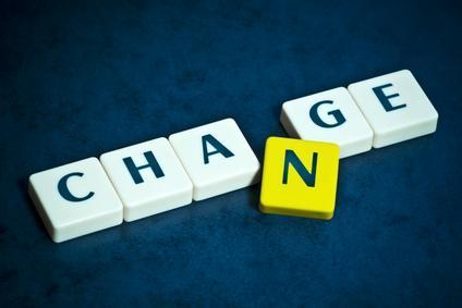 image of the word change