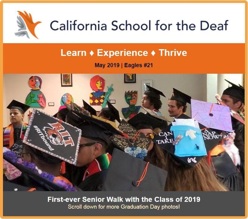 Graduates with decorative caps