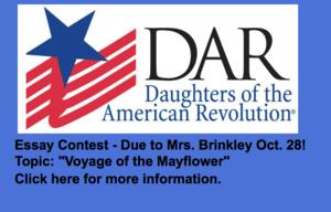 DAR Essay Contest Due Oct. 28