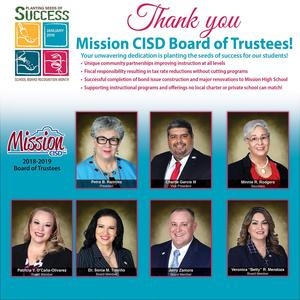 ad with picture of all board members
