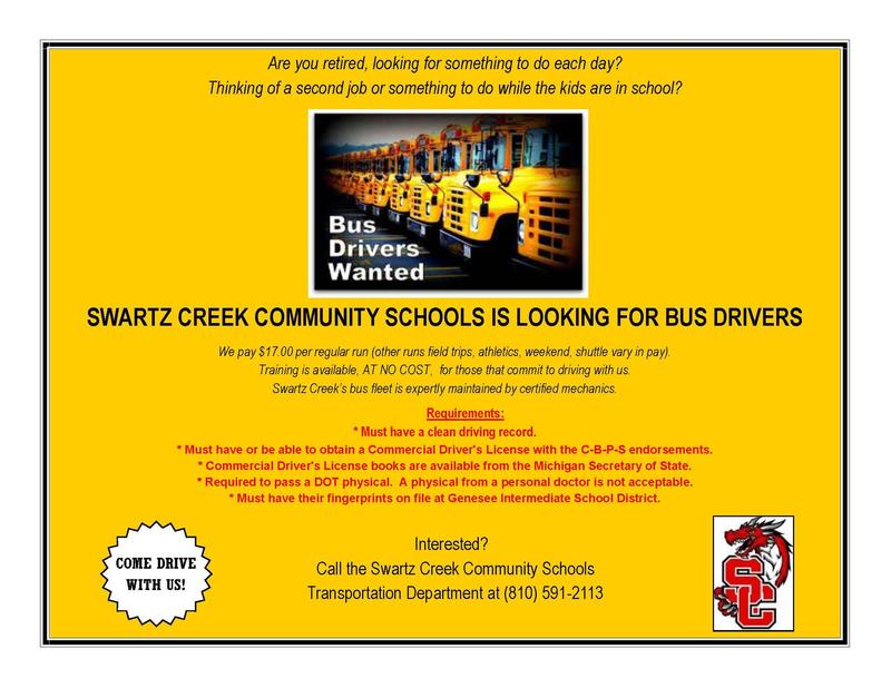 BUS DRIVERS NEEDED! Featured Photo