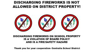 No Fireworkss on campus