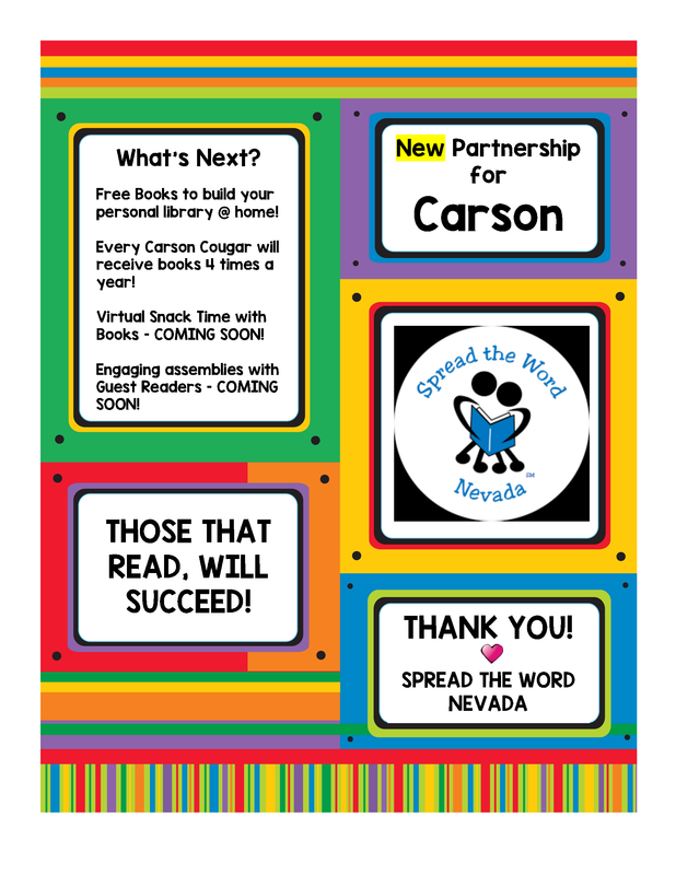 New Partnership for Carson-Spread the Word Nevada Nueva Asociación para Carson-Spread the Word Nevada Thumbnail Image