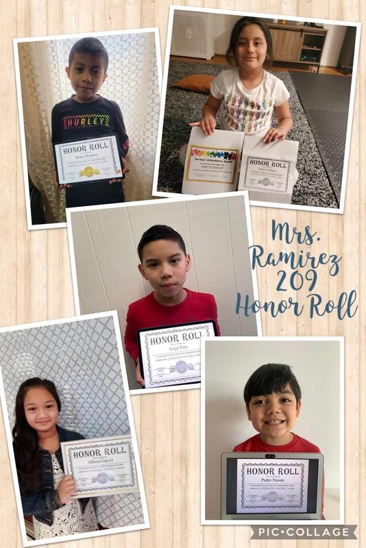 Room 209 honor roll students collage