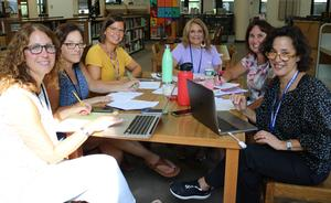 Westfield Public Schools educators gather for a full day of professional learning that included sessions on SEL, the new Standards-Based Report Card, digital citizenship, mental health and behavioral issues, technology, and other topics.