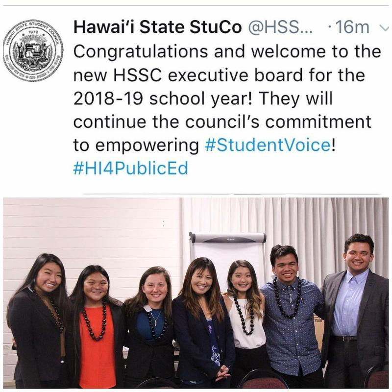 Sgt. at Arms for the Hawaii State Student Council Thumbnail Image
