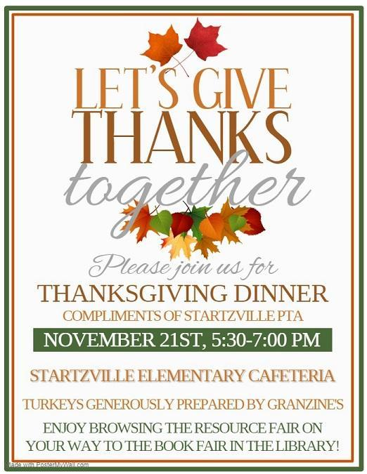 Thanksgiving Dinner 11/21 5:30-7:00
