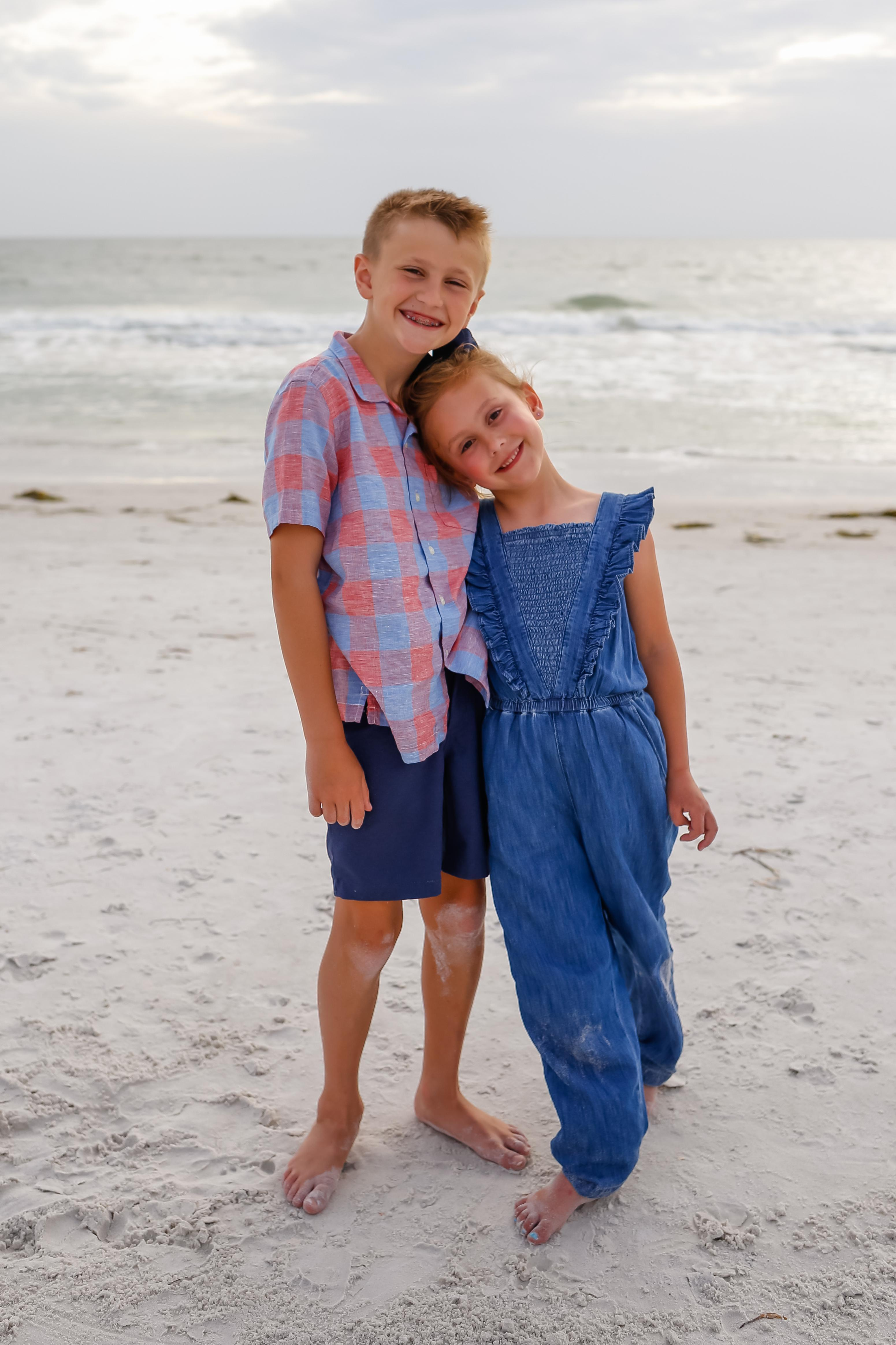 Colin and Nora at the beach.