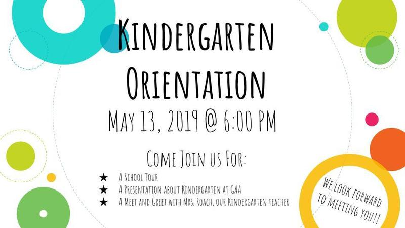 Kindergarten Orientation for 2019/2020 Thumbnail Image