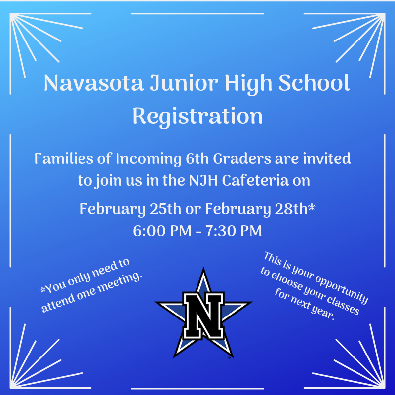 NJH Registration for Incoming 6th Graders Featured Photo