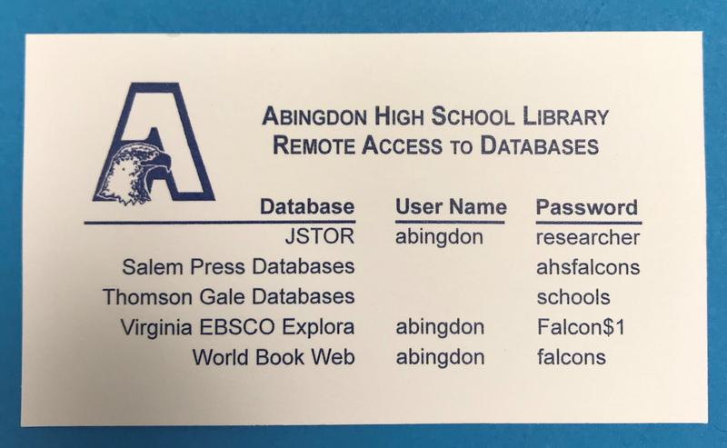 AHS Library Remote Access to Databases Featured Photo
