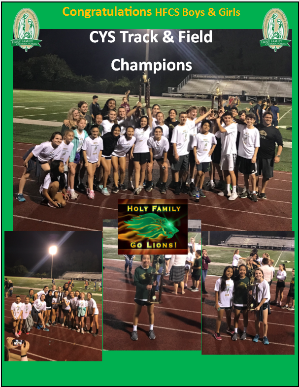 HFCS Middle School Track & Field CYS Champions Featured Photo