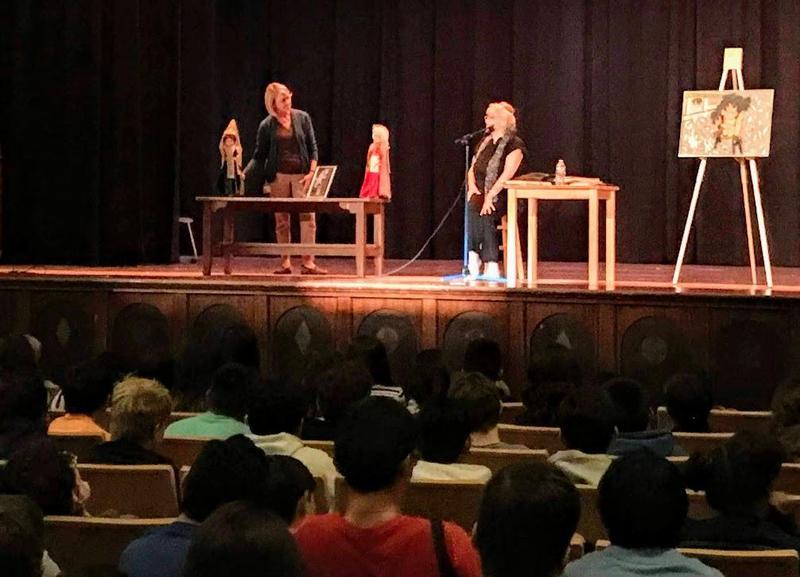 Trudie Strobel presents to students